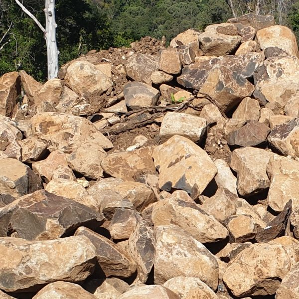 bush rocks for landscaping rockeries delivery gold coast