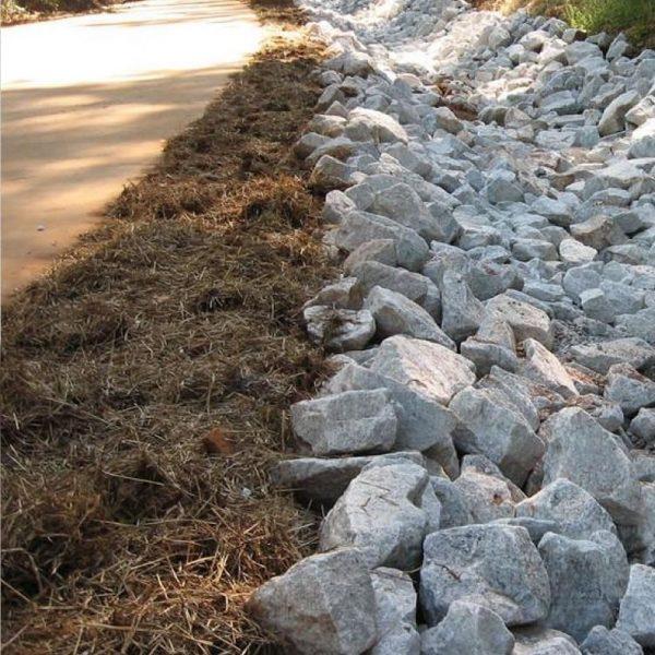 driveway roadside rainwater drainage rocks delivery gold coast