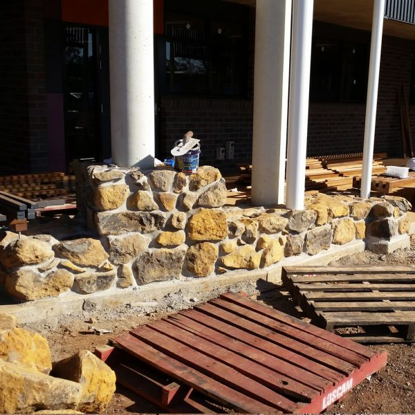 small dry stone wall bush rocks for landscaping delivery gold coast